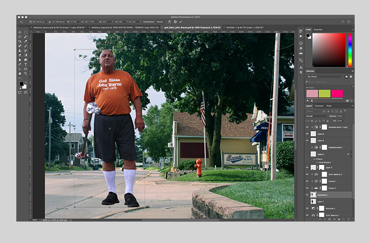 god bless john wayne photoshop composition